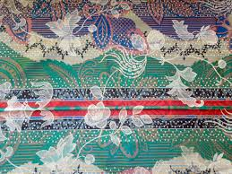 vintage fabric silk flowers multi color arabian nights floral sold by passion4europe