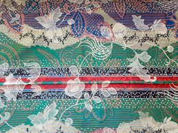 vintage fabric silk flowers multi color arabian nights floral