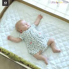 mattress for portable crib buy little one u0027s pad pack n play crib mattress cover fits all