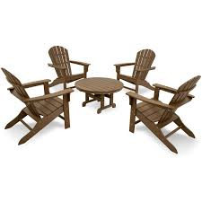 trex cape cod 5 piece adirondack conversation set rocking furniture