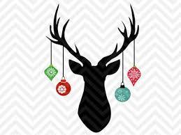 deer antler hanging ornaments svg and dxf cut file png