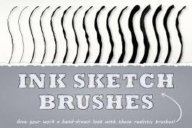 ink sketch brushes illustrator on behance
