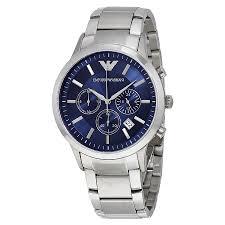 armani steel bracelet images Emporio armani chronograph navy blue dial men 39 s watch ar2448 jpg
