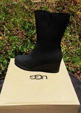 womens ugg boots wedge heel ugg black wedge boots ebay
