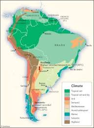 why is it so warm in some south american countries why are some