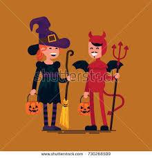 halloween card kids costumes stock vector 114488836 shutterstock