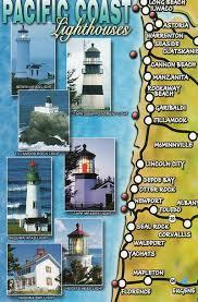 map of oregon lighthouses washington oregon lighthouse map justmeskj postcards flickr