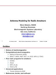 antenna modeling for radio amateurs antenna radio