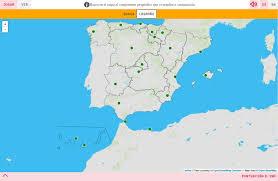 Espana Map Mapa Para Jugar Dónde Está Capitales De Ccaa De España Mapas