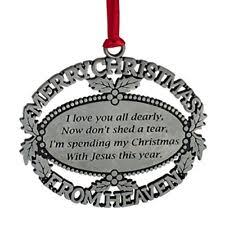 merry from heaven pewter ornament loved one memorial