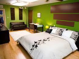 pretty green accent for wall color ideas with black white double