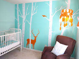 Jungle Wall Decals Baby Nursery Comfortable Aqua Wall Decals For Nursery Decor With
