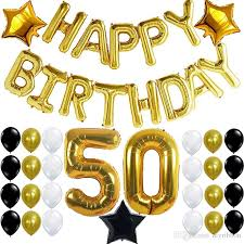50th birthday party supplies 50th birthday party decorations kit with happy birthday banner