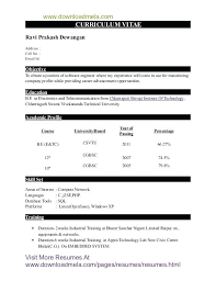 resume format pdf for freshers engineers resume sles for freshers engineers pdf topshoppingnetwork com