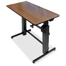 Ergotron Sit Stand Desk Ergotron Workfit D Sit Stand Desk Walnut By Office Depot Officemax