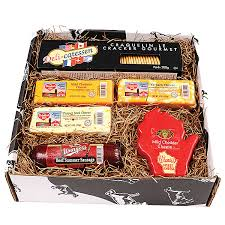 summer sausage gift basket lamers dairy 5 taste of wisconsin cheese and sausage assortment