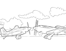 dusty ripslinger planes free coloring page