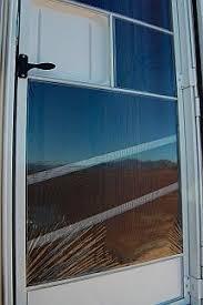 rv door glass rv tip shrink wrap your screen door in winter to keep the cold