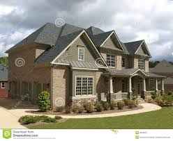House Exterior Design Pictures Free Luxury Model Home Exterior Stormy Weather Angle Royalty Free Stock