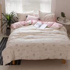 cats printed duvet cover set twin queen king size bedding sets for home 100 cotton pink bed sheets pillow case duvet cover comforters sets queen affordable