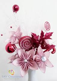 jolly red and pink flowers decor handmade paper flower gift wrap