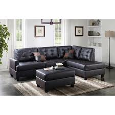 Reversible Sectional Sofa Bobkona 3 Piece Reversible Sectional Sofa W Cocktail Ottoman
