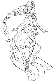 winx club coloring pages flora creativemove