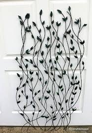 metal garden wall art trellis black u0026 green leaf design 57ins