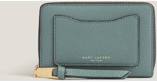 marc york marc small standard continental wallet in blue lyst
