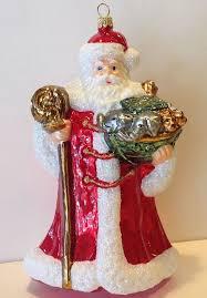 glassware studio ornament santa glass poland new in