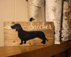 wood dog sign etsy