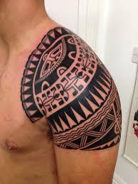 polynesian shoulder cap higgins tattoo
