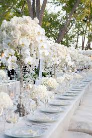 Flowers For Dining Room Table by Charming Dining Room Ideas With White Flowers And Crystal Decor
