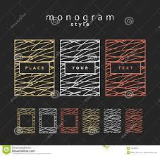 set design elements monogram labels frames packaging for luxury