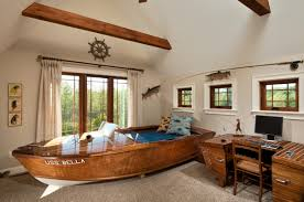 bedroom boat themed bed as boys room themes with boat bed plus