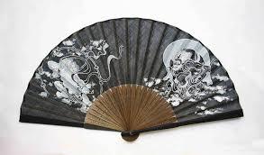 japanese folding fan japanese folding fan kyo sensu fujin raijin japanesegoods jp