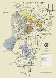 map of oregon wineries posters maps willamette valley wineries