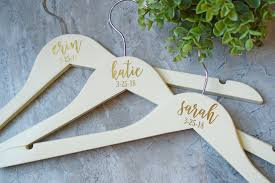 personalized wedding hangers personalized bridesmaid gifts custom gifts the white invite