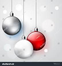 three decoration christmas balls winter vector stock vector