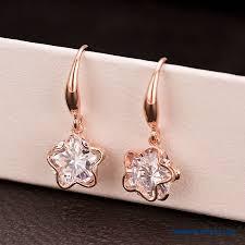 big stud earrings cheap women upscale big fashion class 3a zircon earrings pentagram