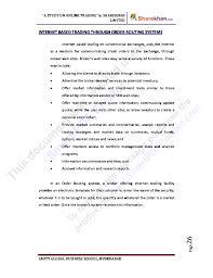 Exles Of Internet Memes - 37711902 project on online trading at sharekhan ltd 1