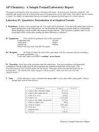 sample lab report ap tin mole unit