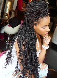 nubian hair long single plaits with shaved hair on sides 40 fabulous funky ways to pull off faux locs