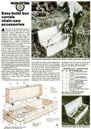 Wood Storage Rack Woodworking Plans by Diy Chainsaw Storage Box Woodworking Plans And Projects