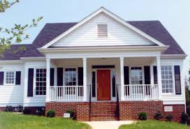 revival style homes modern house plans revival plan porch one story