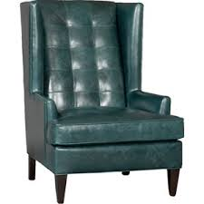 Green Chesterfield Armchair Wingback Leather Chairs You U0027ll Love Wayfair