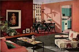 50s Design 50s Design 1952 Living Dining Room With Great Details Retro