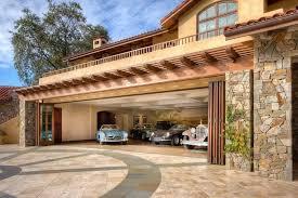 Mediterranean Roof Tile Balcony Above Garage Garage Mediterranean With Hardscape