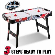 air powered hockey table md sports easy assembly 48 inch air powered hockey table space