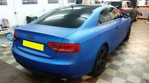 matte audi s5 audi s5 matt blue aluminium wrapping cars